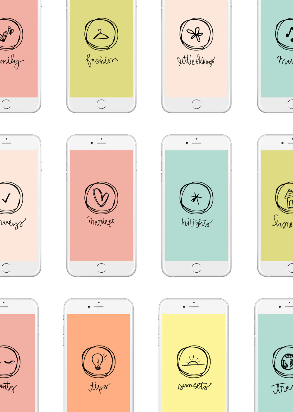 Summer icon set - Full set of 19 screens to use for your instagram hilights!CLICK HERE TO DOWNLOAD