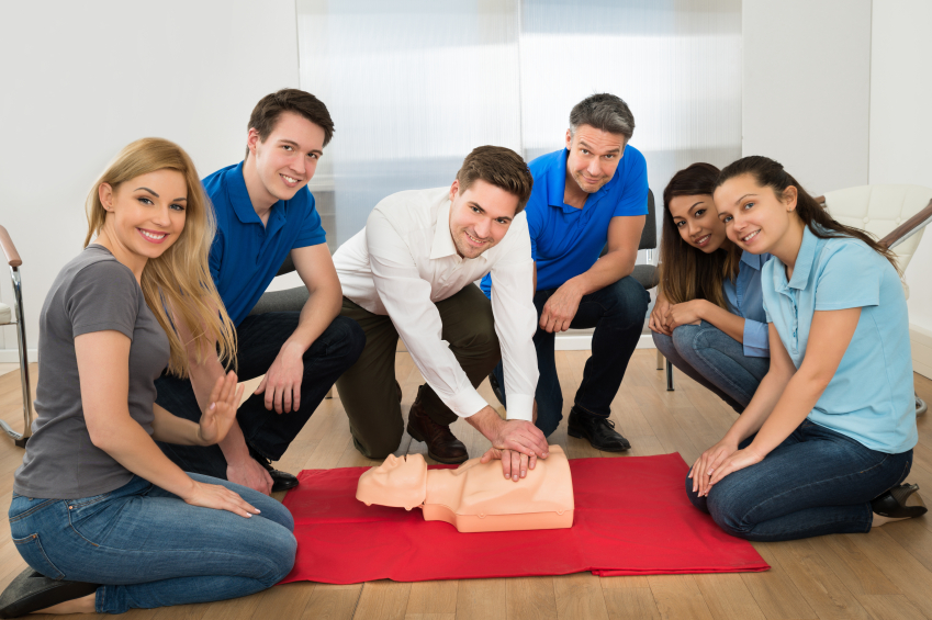 This would be too many instructors. One or two good ones will suffice! Get CPR Done's qualified instructors also know how to make an appropriate amount of eye contact, as opposed to what we see here.