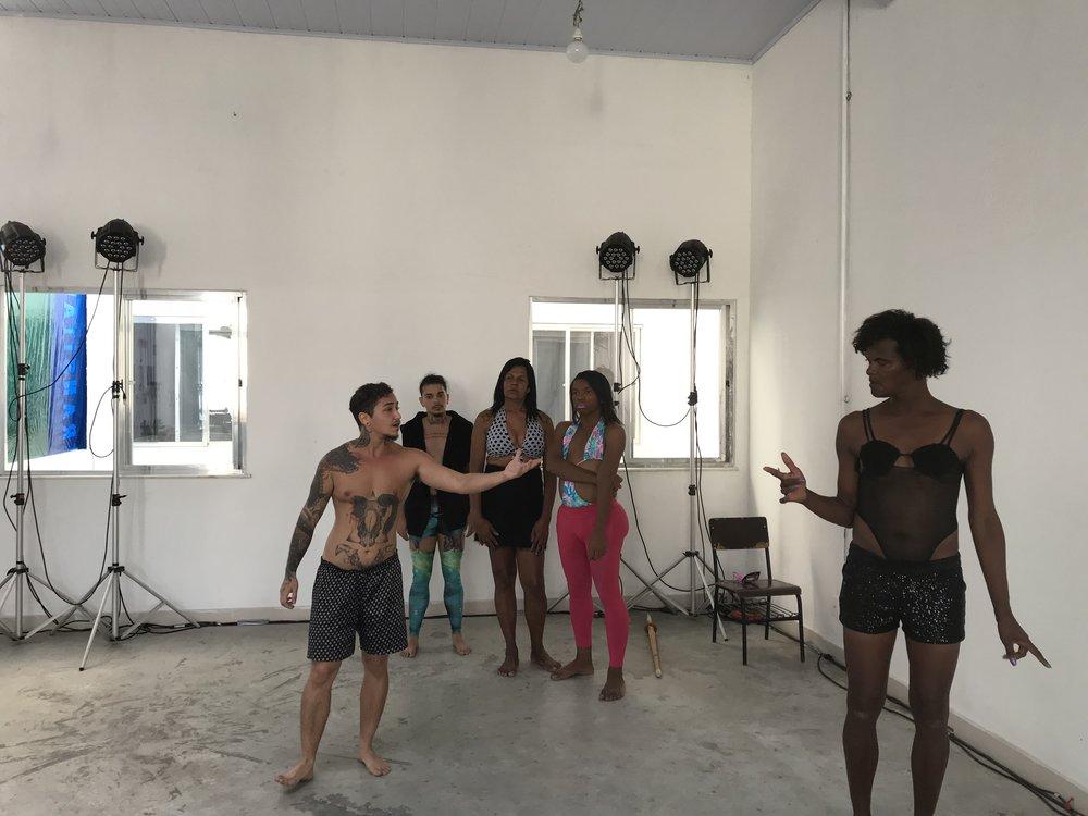 Projeto Trans Arte reharsal