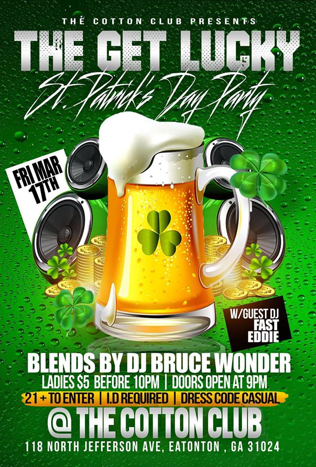 The Get Lucky St. Patricks Day Party