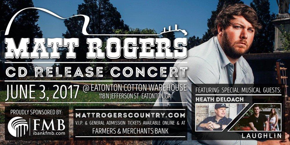 Matt Rogers CD Release Concert at Eatonton Cotton Warehouse