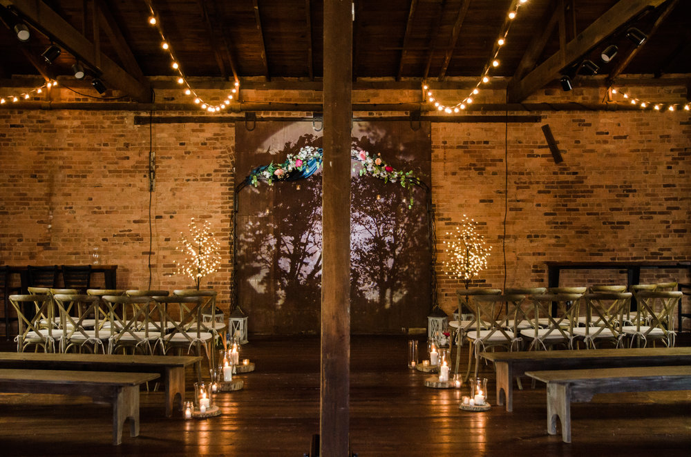 Wedding Ceremonies at Eatonton Cotton Warehouse