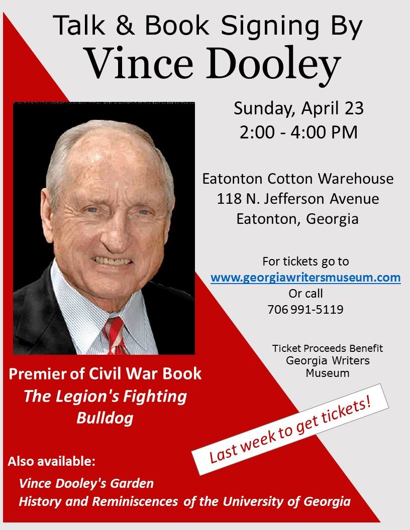Vince Dooley Lecture & Book Signing at Eatonton Cotton Warehouse
