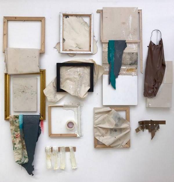 Ally McGinn (2016-17) Painting Installation. Mixed media. Size varies.