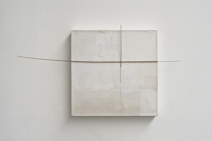 Fernanda Gomes (2014)  Untitled.  Canvas, wood, paint. 32 x 58 x 3.3cm