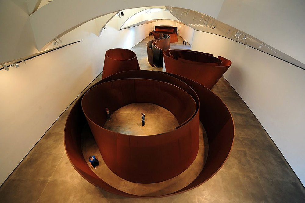 Richard Serra, (2005)  The Matter of Time'.  Weatherproof steel. Varying dimensions.