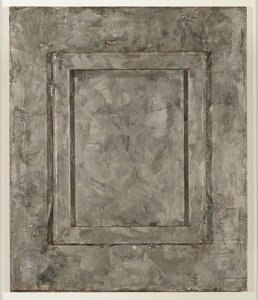 Jasper Johns (1956)  Canvas.  Encaustic and collage on wood and canvas. 76.3 x 63.5 cm.