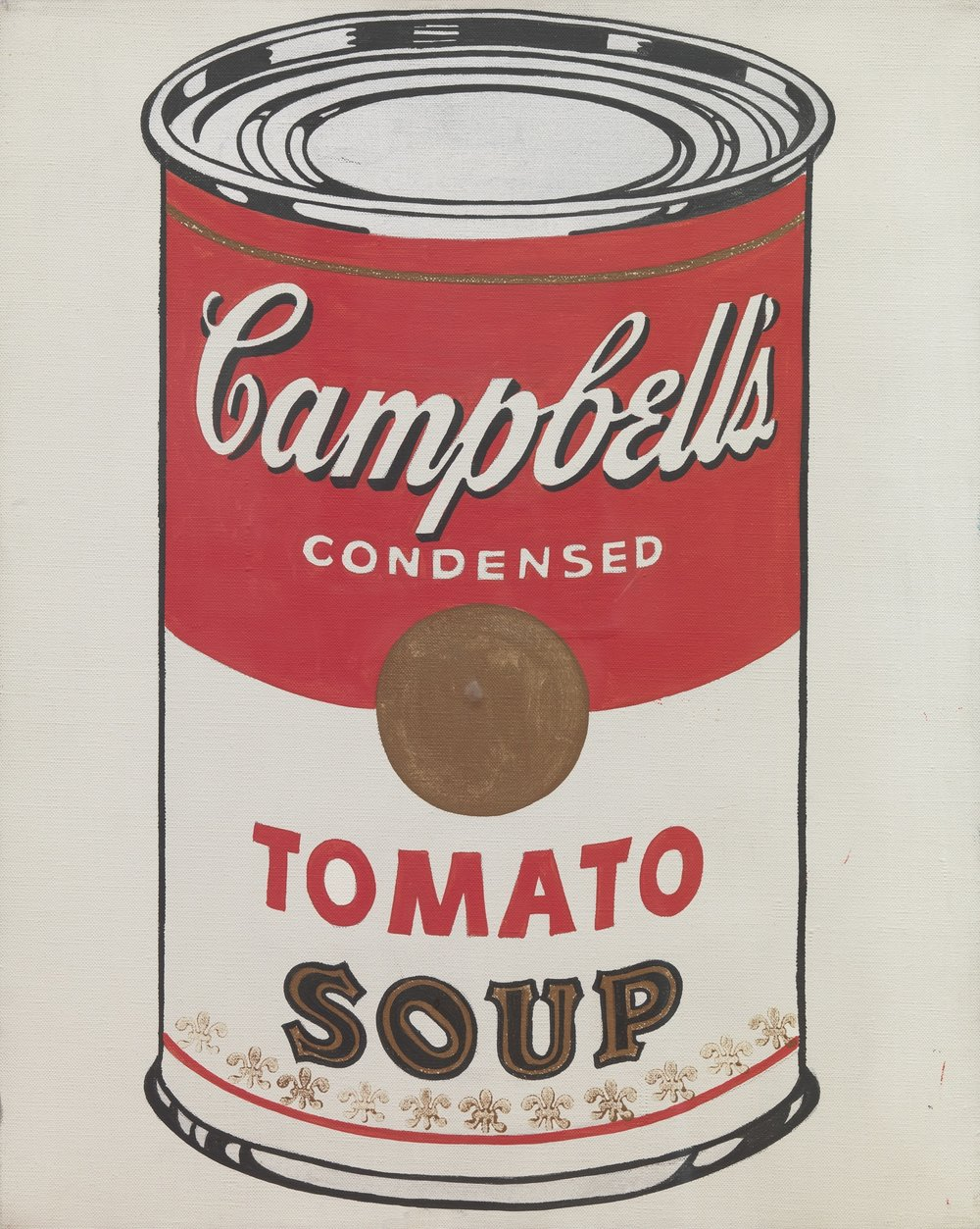 Andy Warhol (1964)  'Campbell's Soup Can' . Synthetic polymer paint on canvas. 50.8 x 40.6 cm.