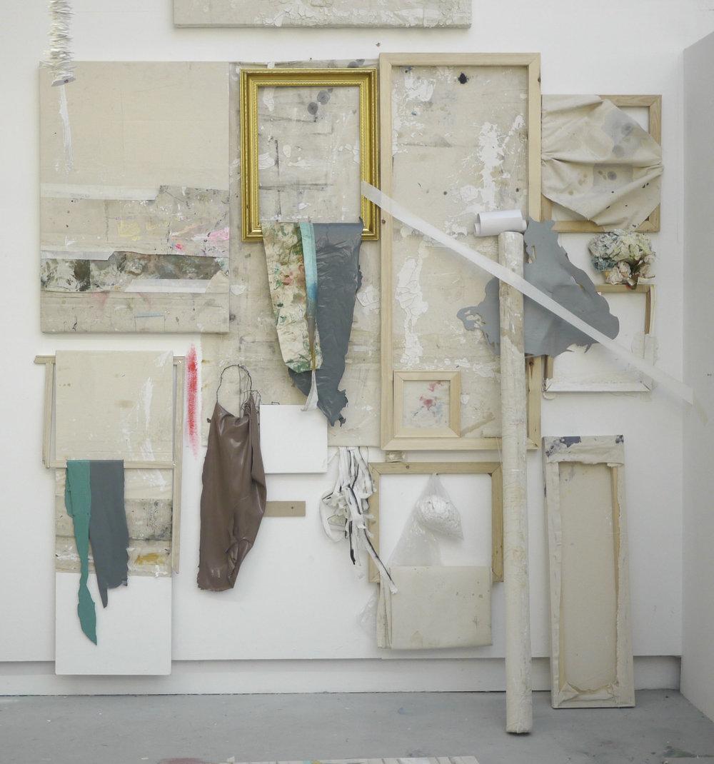 Ally McGinn (2017) Painting Installation Test. Mixed media, size varies.