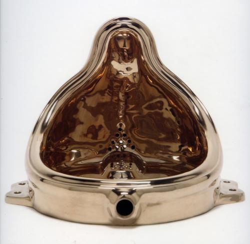 Sherrie Levine (1996) Fountain [Budda] Cast bronze. 30.48 x 40.32 x 45.72 cm.