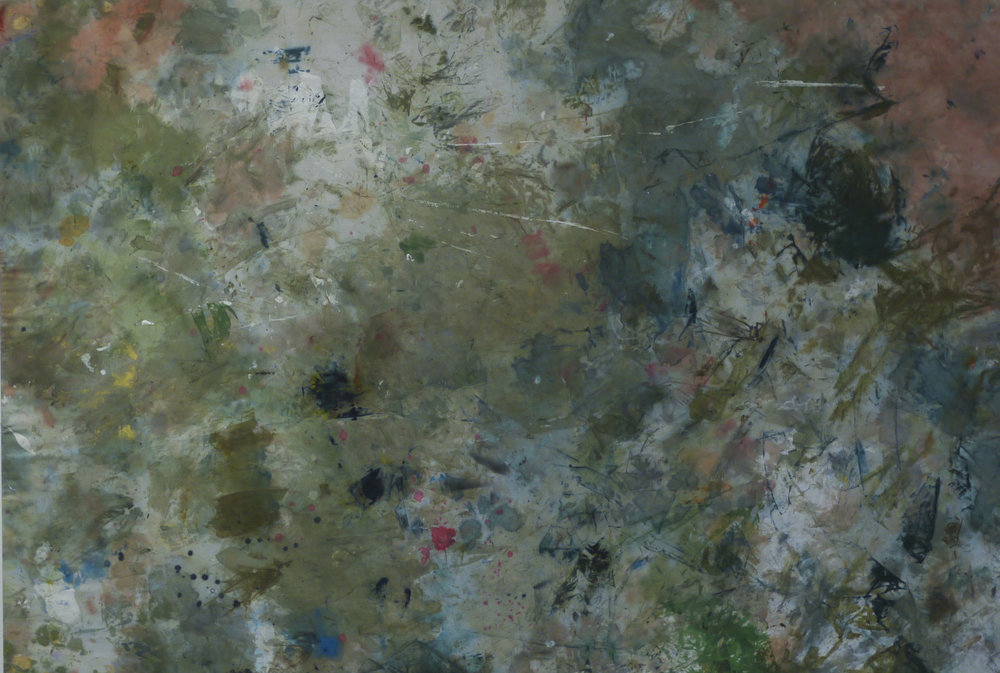 Ally McGinn (2016)  Kenneally.  Artists rag with oil and acrylic. 134 x 91 cm.