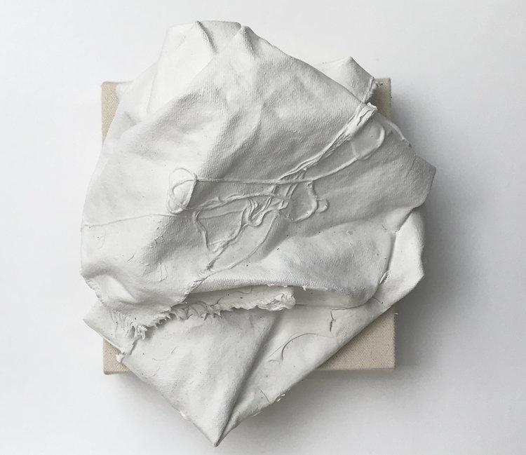 10 - Canvas (2017) Canvas, acrylic primer stretcher, 25 x 25 x 22 cm.JPG