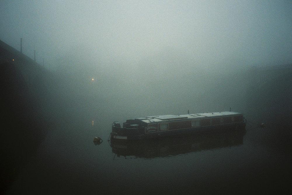 Foggy morning in London's Richmond shot on Fuji 400H 35mm film through Olympus Mju II camera. By Dmitry Serostanov