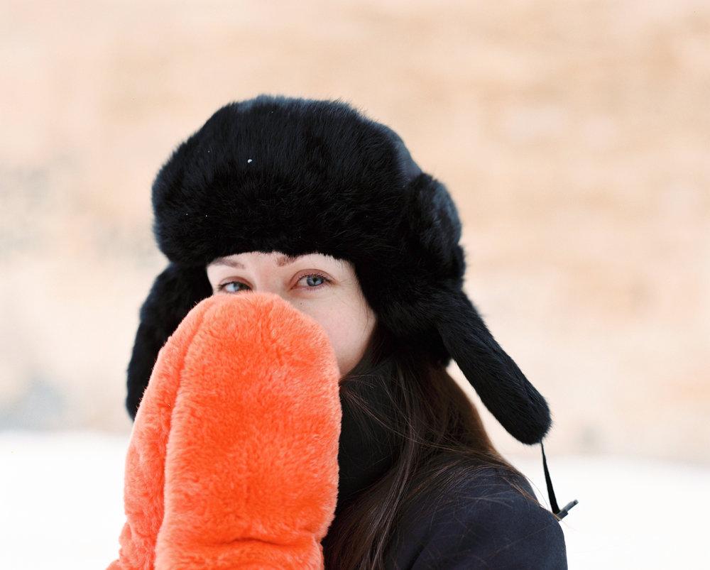 Winter portrait shoot by Dmitry Serostanov