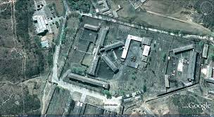 "Satellite image of one of 12 ""concentration camp-like"" prisons in North Korea."