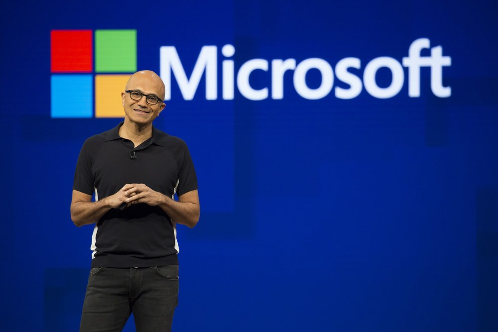 Satya Nadella, CEO of Microsoft, at the Microsoft Developers Build Conference in May 2017.
