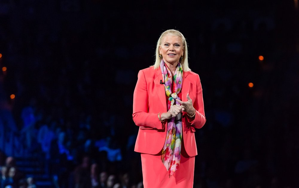 Ginni Rometty, CEO of IBM, speaking at Think 2018 technology conference.