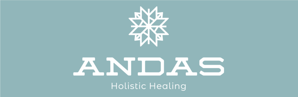 """Andas (Swedish for """"breathe""""), was chosen as the name to highlight both the Swedish design aesthetic and the idea of holistic healing, a core value of the brand. Each product features a different rune: wind, fire, and water. These runes together with the rune for earth are combined to create the brand logo mark. A soft blue-green was chosen as the brand color because it traditionally represents tranquility, a state the target hopes to find through the products."""