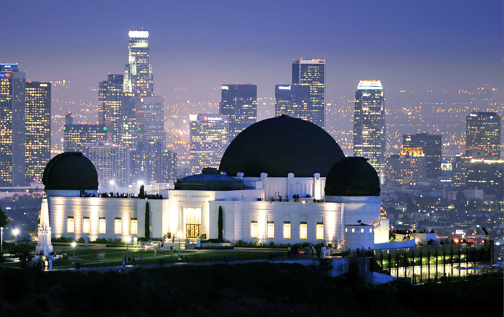 Griffith Observatory with Skyline View