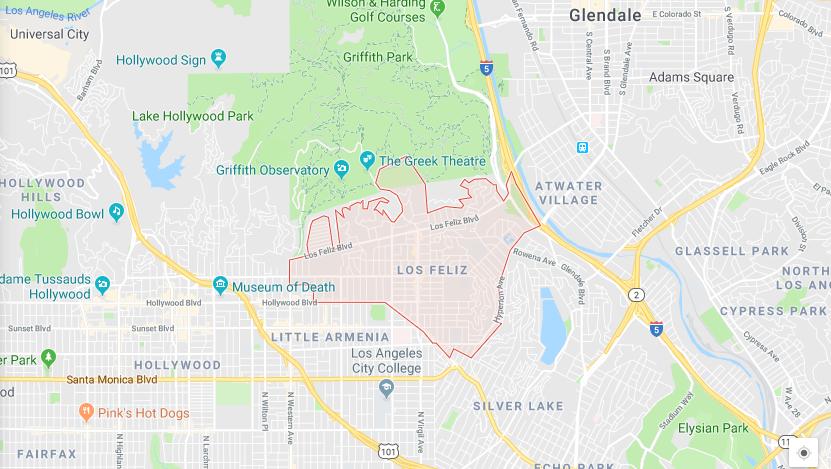 Los Feliz Map