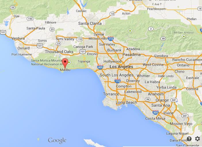 Malibu Beach Map