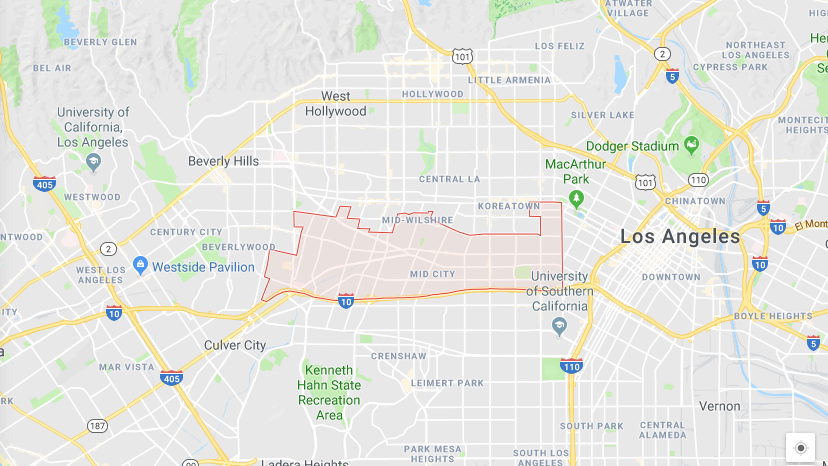 Mid Los Angeles Map