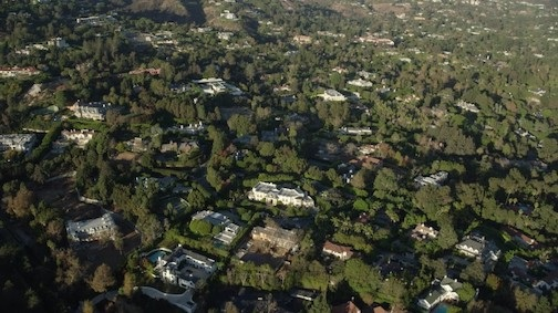 Bel Air - Holmby Hills from Above