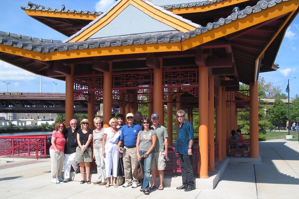 The Chicago Parks Old and New bus tour featured Ping Tom Park in Chinatown, 2010.