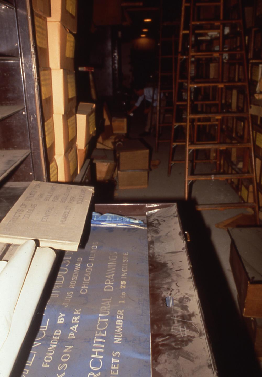 View of Sub-basement vault, ca. 1988.