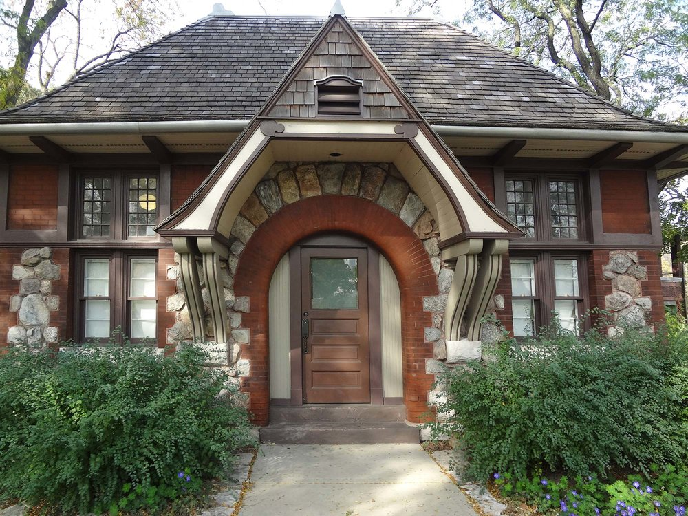Architect Joseph Lyman Silsbee designed this elegant 1888 Lincoln Park building,  nicknamed the Carlson Cottage, as a ladies comfort station.