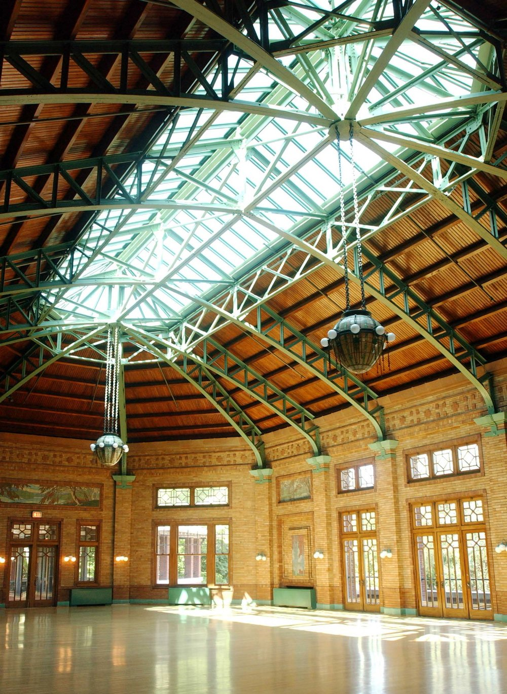 Interior View of Café Brauer's Great Hall. Photo by Brooke Collins.