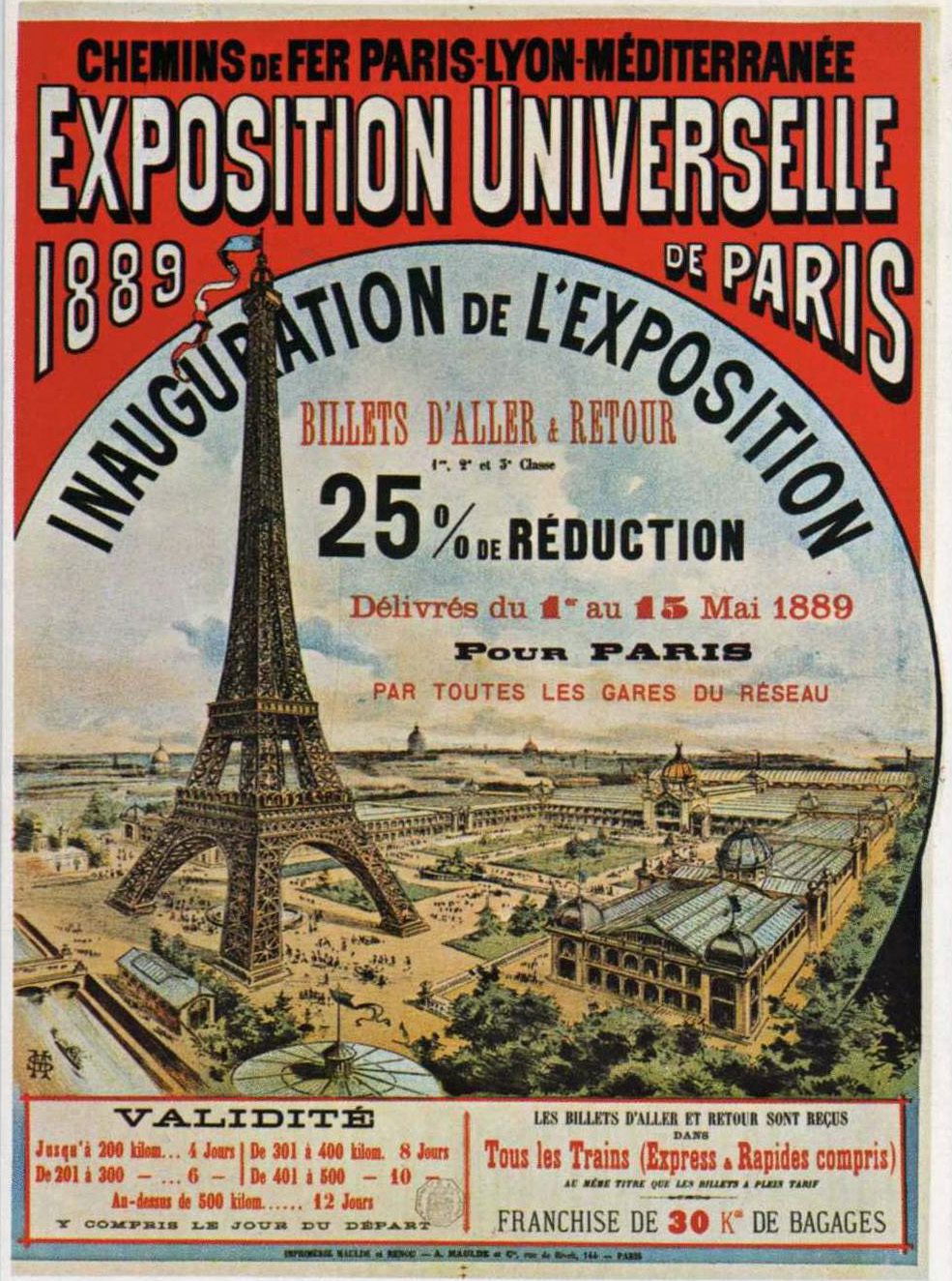 Poster for Exposition Univesalle de Paris, 1889. Courtesy of Wikimedia.