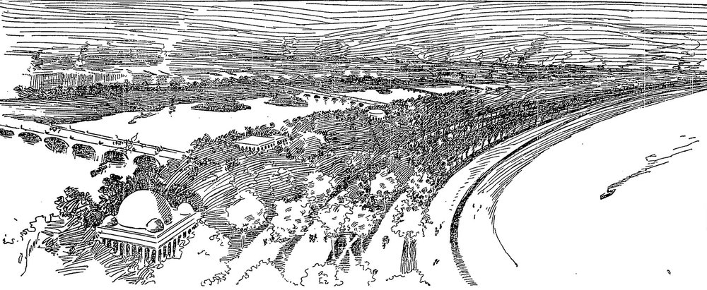 "Birds Eye View of South Shore 'Made Land' Following Mr. Burnham's Plan,"" Chicago Daily Tribune, April 5, 1895, p. 5."