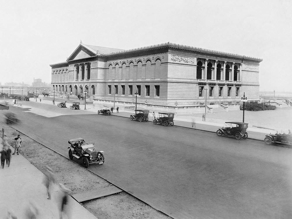 View of the Art Institute and Michigan Avenue, ca. 1912. Courtesy of Chicago History Museum, IChi-61047.