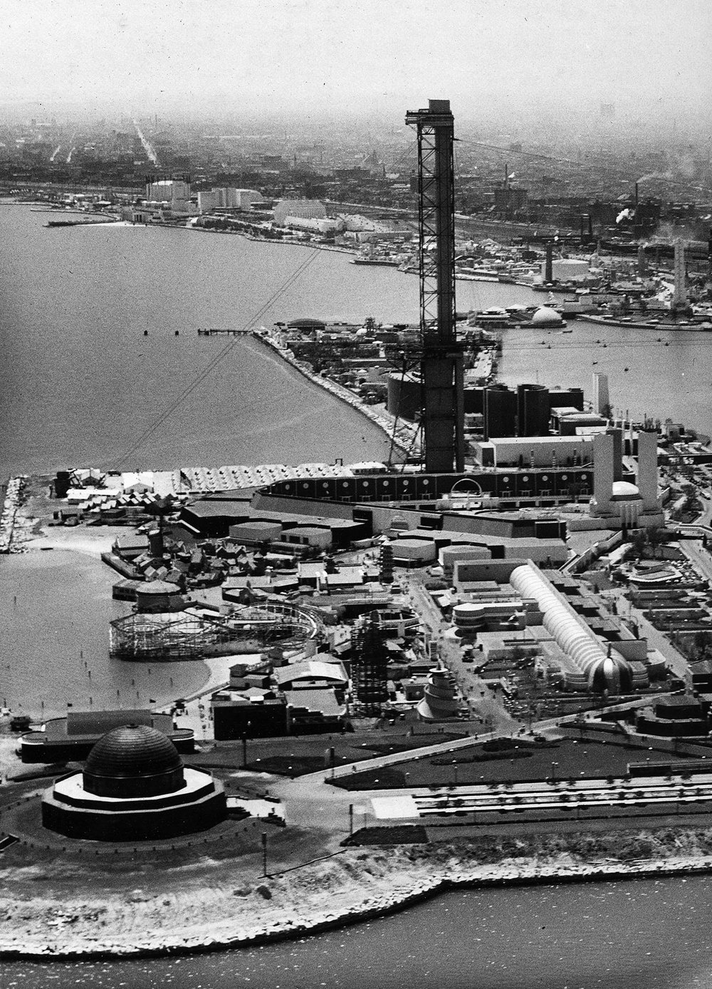 The Adler Planetarium was open to the public while construction was underway for the second World's Fair,  A Century of Progress , ca. 1932.  Chicago Public Library Special Collections, Chicago Park District Archives, Photos.