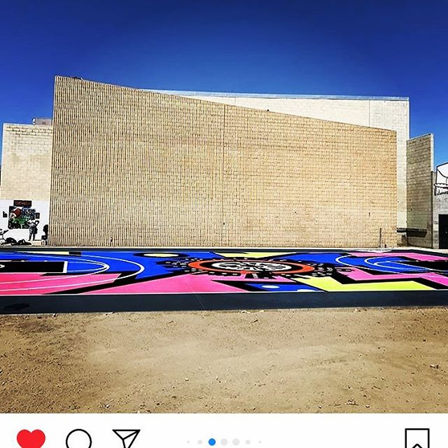 of all the things 2018 brought into our lives, this one takes the cake.  it was truly a life changing experience to build the basketball court in Watts. there aren't words to fully express the feeling of community, giving and collaboration while doing this. - many thanks to @_addidas @heyviolet + @krisjenner for their generous contributions.  it was our pleasure to donate and  join forces with #ferandelltenniscourts and #wattsempowermentcenter ~  wishing everyone a wonderful new year and more love in their lives! 🔨🔩🏀🎈🎉❤️🔥