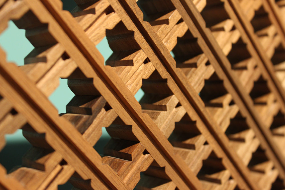 "Nasser Mansouri's extraordinary handmade ""jali"" lattice patterns"
