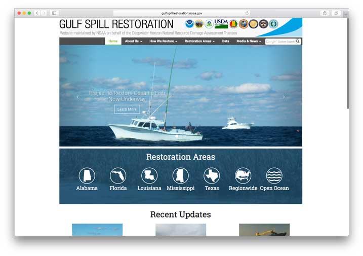 Gulf Spill Restoration, NOAA Damage Assessment, Remediation & Restoration Program