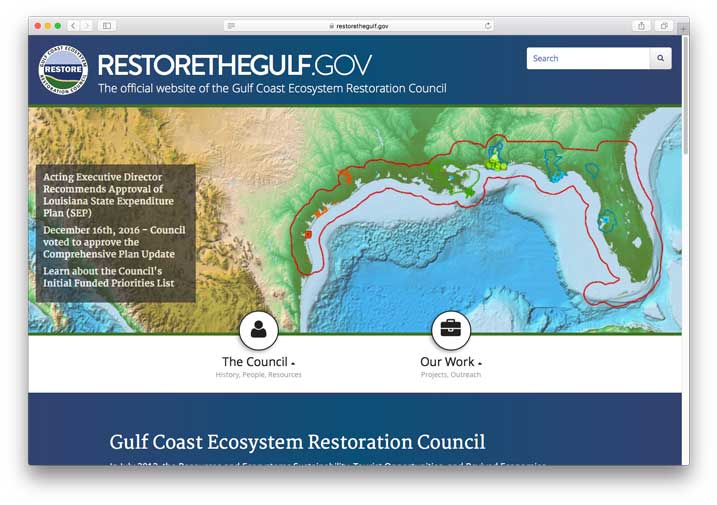Restore the Gulf, Gulf Ecosystem Restoration Council