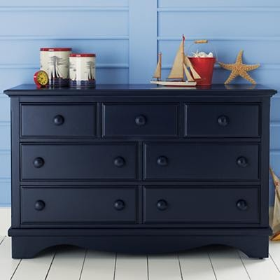 Navy Dresser Nautical Theme Room