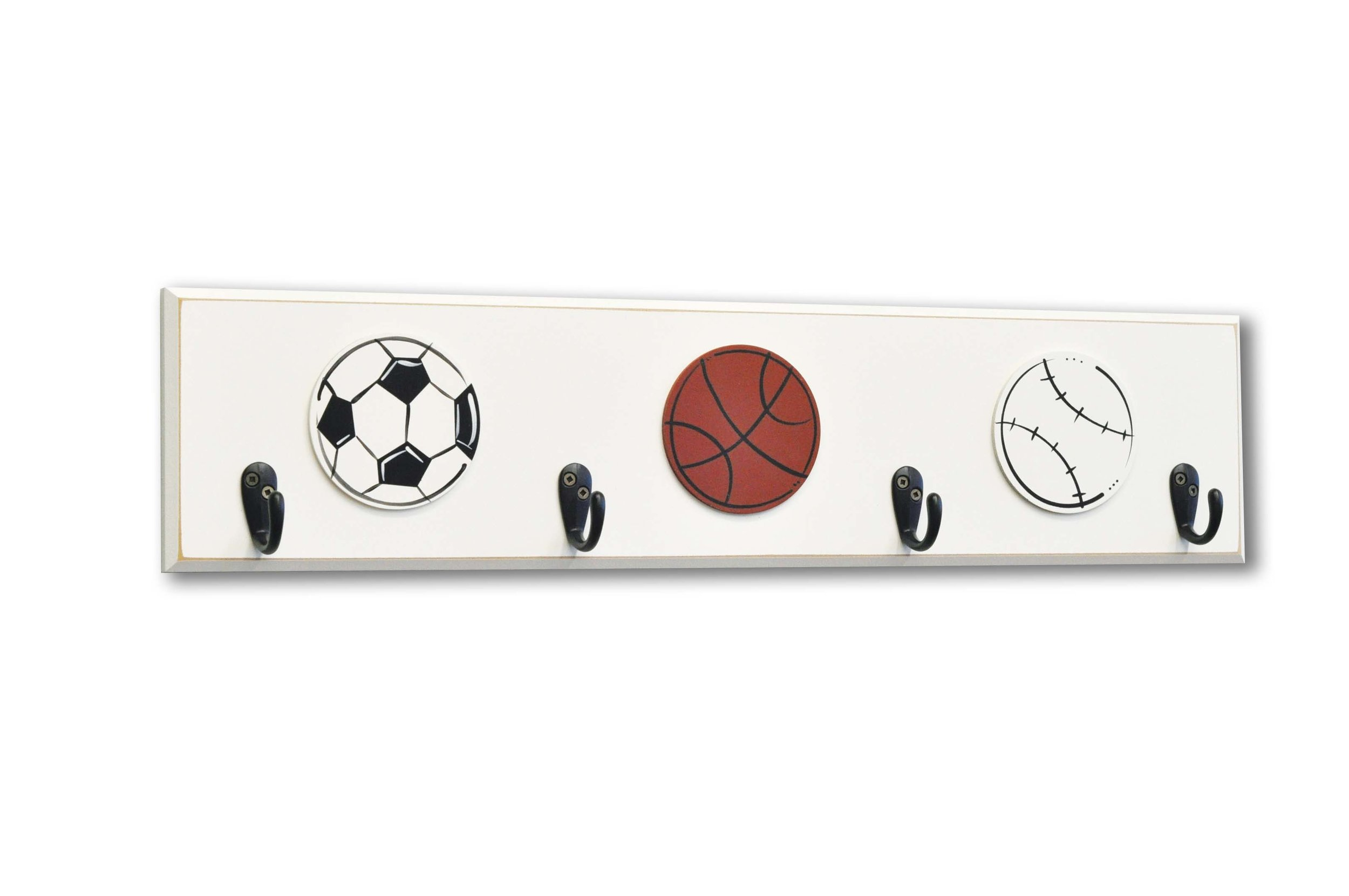 Soccer Sports Room Decor, wall hooks - Homeworks Etc Kids