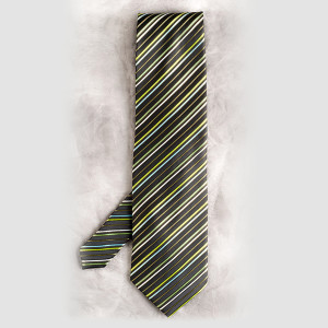 Babe Magnet Black Striped Tie Teething Bling