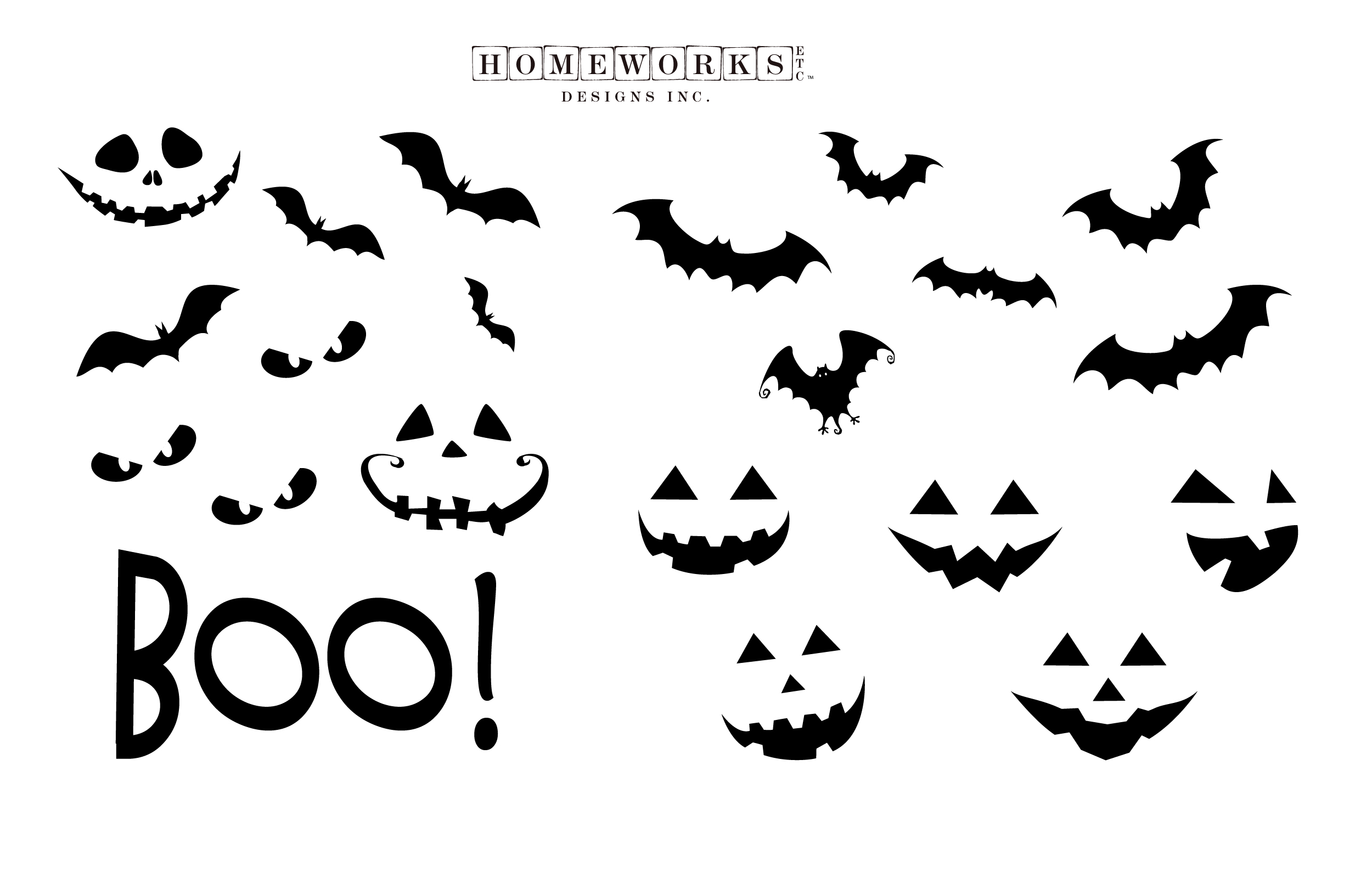 Halloween-Craft-Decals Free Printable