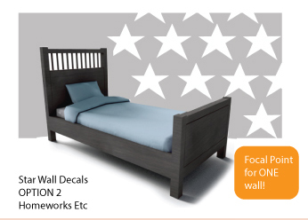 Star Wall Decal Modern Cool boys room decor