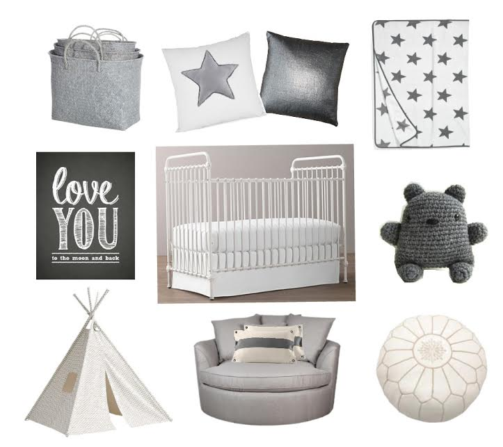 Lily + Spice grey and white boy nursery inspiration