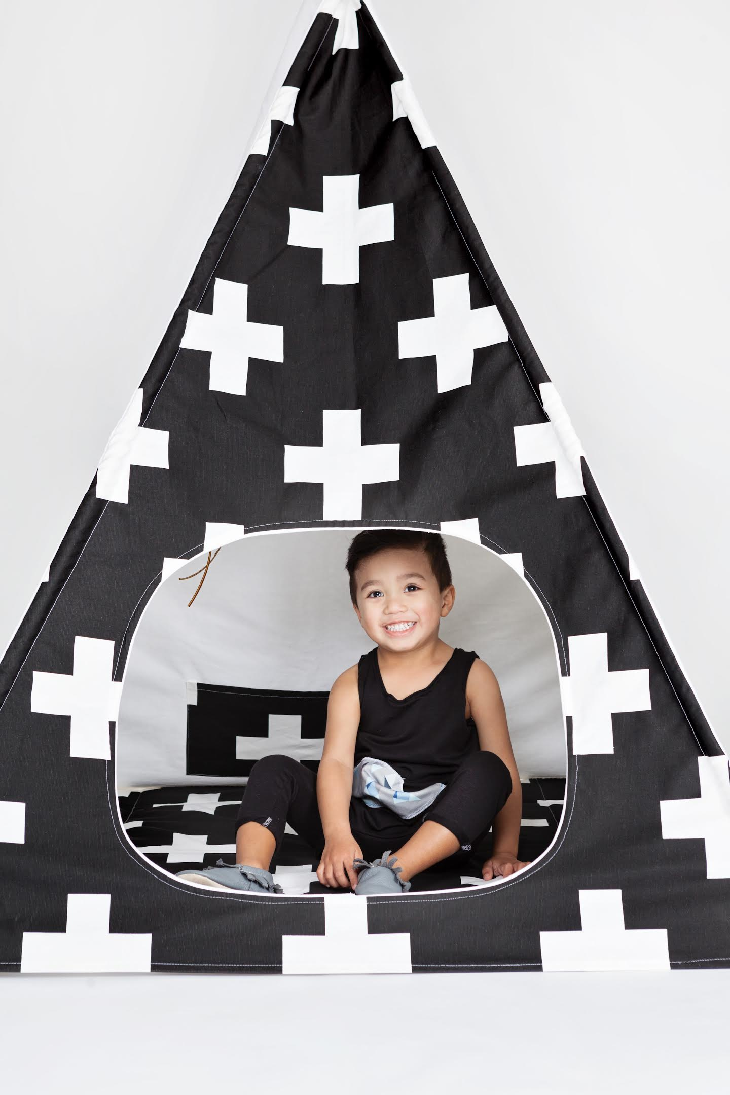 Cross Teepee Fabric Pattern