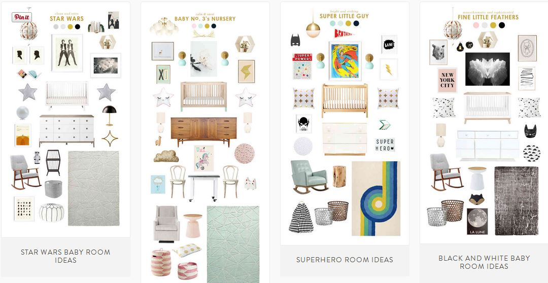 laybabylay room styleboards online baby resource