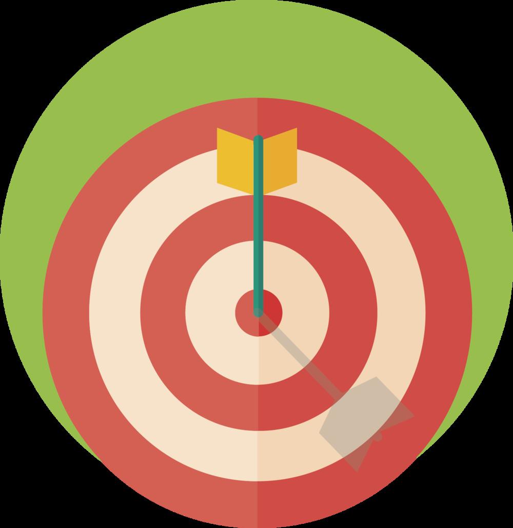 Arrow hitting the target.