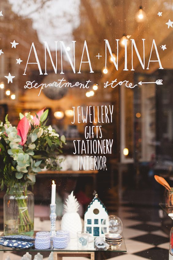 ANNA + NINA    (Interior,  Jewelry, Gifts & Stationery)    This charming and super trendy place hosts a large variety of amazing products and brands such as Jewel Rocks, Amano Trading, À La and The Old House. If I could move right into this store, I would. I don't think there was anything in the entire store that I didn't want in my home!