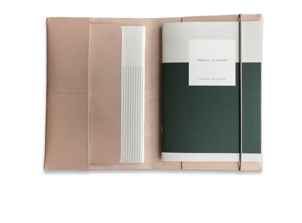 LEATHER CASE + PLANNER SET, A5  *Swoons*